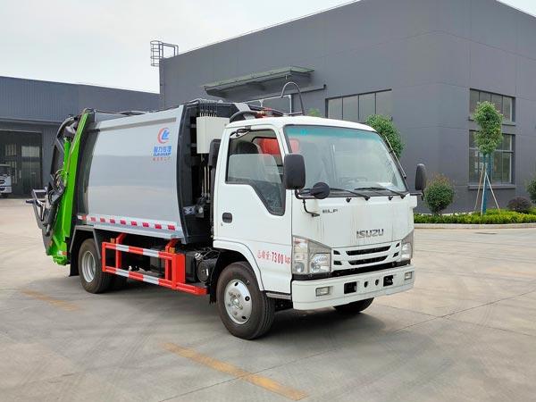 程力威牌CLW5070ZYSQ6型压缩式垃圾车